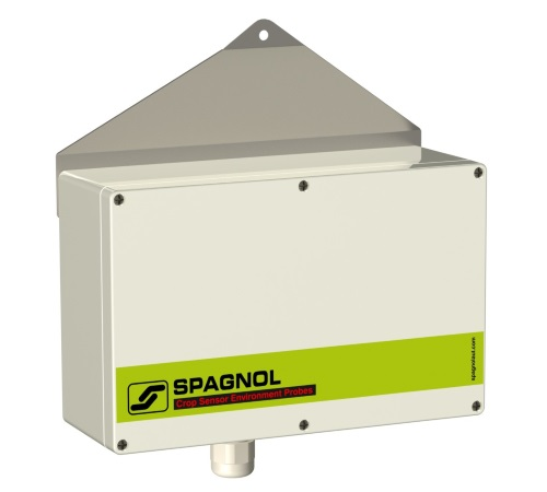 Sonda ambiente di temperatura e umidità elettronica schermata e ventilata. Collegamento S-Bus