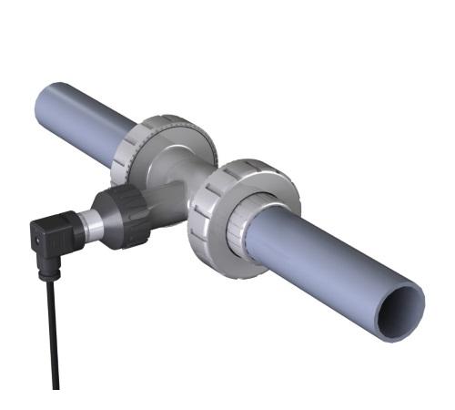 Débitmètre pour tuyauterie d'irrigation en PVC avec raccord à T